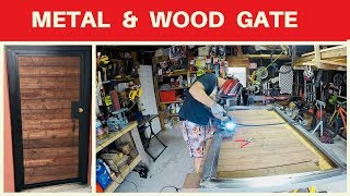 Diy Metal And Wood Entry Gate