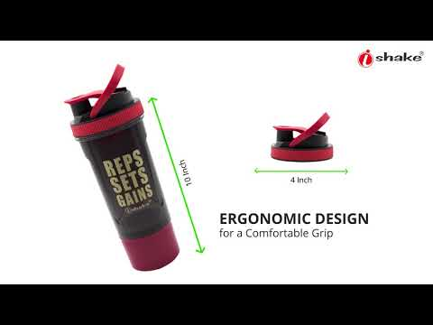 Brawny Shaker Bottle- Red