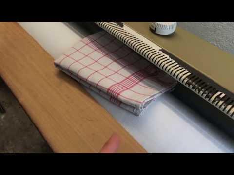 Geschirrtuch Heißmangeln Geschirrhandtuch mangeln Wäschemangel benutzen Anleitung