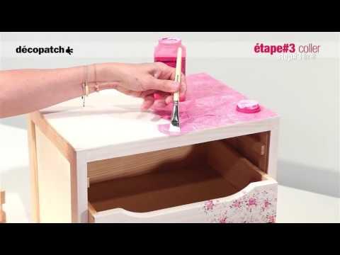 Ντεκουπάζ σε συρταριέρα βήμα-βήμα με χαρτιά decopatch
