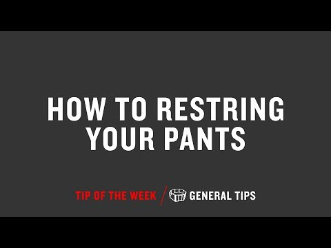 How To Re String Your Pants