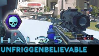 Halo 5: Guardians - 53-0 Unfriggenbelievable Warzone Gameplay with Pistol/BR/DMR/Sniper - dooclip.me
