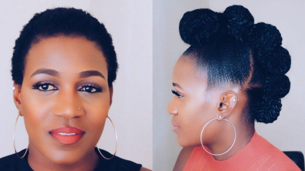 How To | Faux Hawk Updo On Short Natural Hair Jane Nashe  Jane Nashe