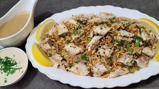 طريقة تحضير الصيادية مع الصوص بكل التفاصيل The Ultimate Sayadieh/Branzino with Fish Gravy Recipe