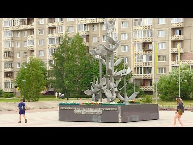 Символ мира в Ангарске разваливается