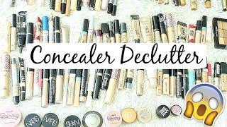 HUGE Makeup Declutter Concealers! 119 CONCEALERS | samantha jane