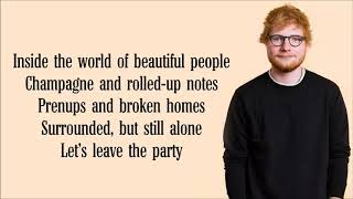 Ed Sheeran     Beautiful People Lyrics