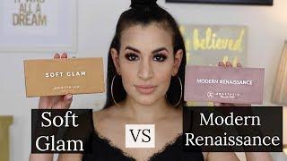 Anastasia Beverly Hills Soft Glam Palette VS Modern Renaissance Palette