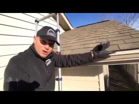 Gutter cleaning- We will come out and hand clean the gutters and flush out the gutters and downspouts.  Included in the cost of the gutter cleaning is an inspection of your roof, siding and system.  