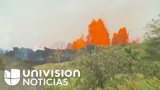 Así de impresionante es la erupción del volcán Kilauea en estos momentos.