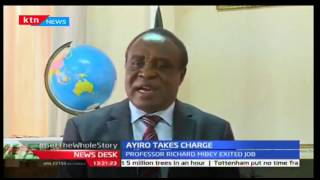 Prof. Laban Ayiro takes over as vice chancellor of Moi University