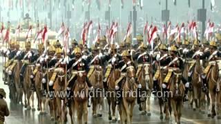 Indian Army's 61st Cavalry Regiment parades on Rajpath, Delhi