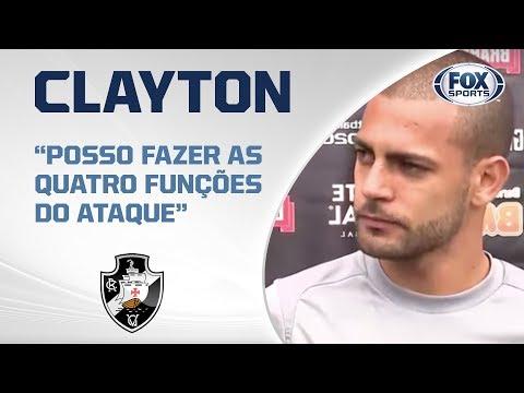 CLAYTON APRESENTADO! Veja as primeiras palavras como novo jogador do Vasco