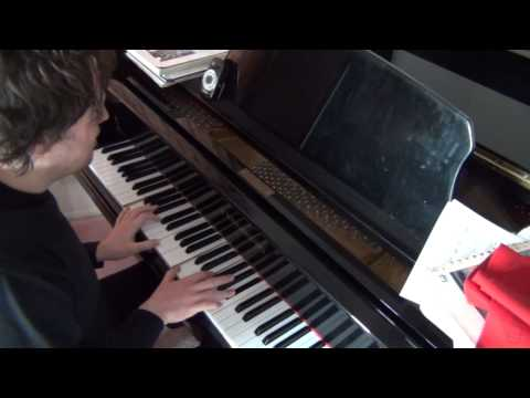 Me improvising and composing on the piano