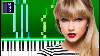 Taylor Swift - right where you left me (Piano Tutorial Easy)