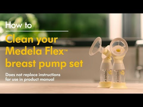 How to clean Medela's Flex™ pump set