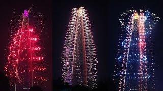 Открытие Lotte Tower, салют
