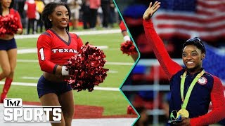 Simone Biles Crushes Texans Cheerleading Debut   TMZ Sports