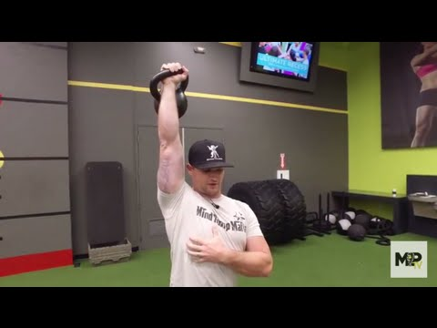 One Arm Standing Kettlebell Press