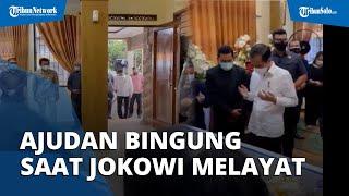 Viral Video Ajudan Bingung Lihat Tingkah Jokowi Sebelum Masuk Rumah Duka saat Melayat Viktor Sirait