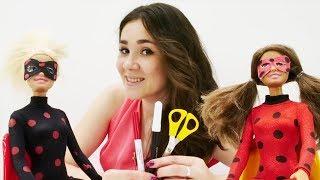 Видео для девочек. Барби и Тереза превращаются в ЛедиБаг и АнтиБаг