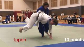 Fights to win a JUDO BLACK BELT, a young competitors contest highlights
