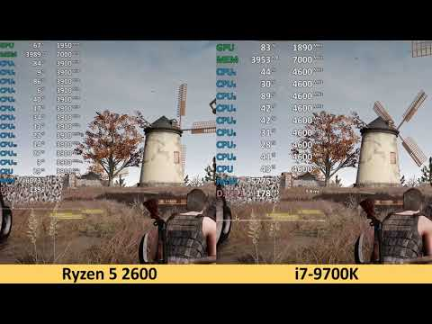 Ryzen 5 2600 vs i7-9700K - 1080p Benchmark Test Comparison