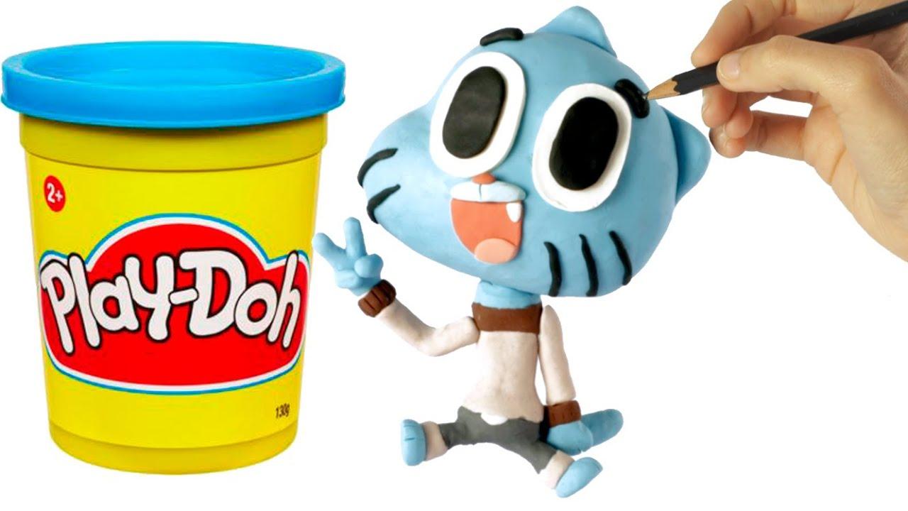 Ver Gumball Play Doh Stop Motion claymation video en Español Online