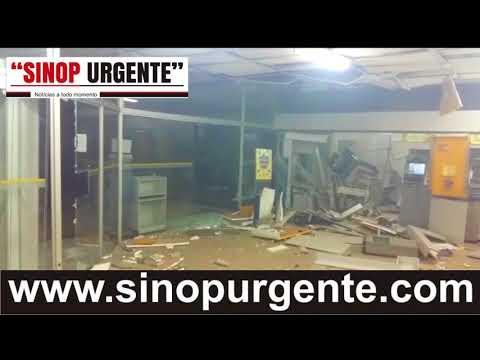 Bandidos explodem dois caixas eletrônicos de banco em Arenápolis MT e fogem