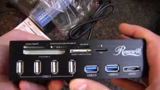 Rosewill USB2, USB3, eSATA, and Card Reader Bay Device