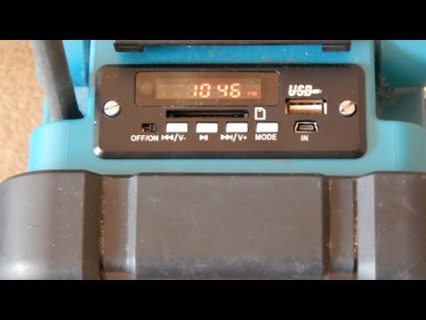 Makita Radio mit USB mp3 Player Modul