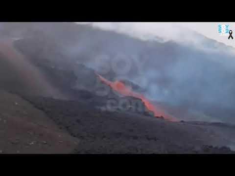 Flujo de la lava en el Volcán de Pacaya