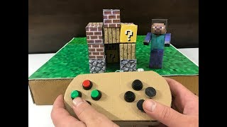 Minecraft. Cardboard game. DIY