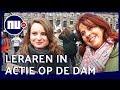 Leraren staken in Amsterdam: 'Ik sta hier niet voor meer salaris' | NU.nl
