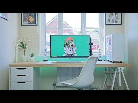 Byte Review Setup Tour 2.0 2018   Ultimate Minimal IKEA Desk!