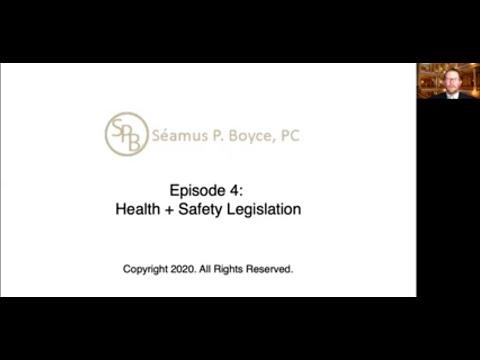 Episode 4 – Health + Safety Legislation