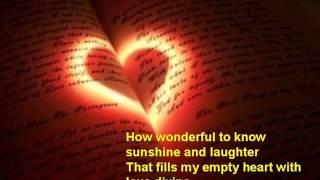 "How Wonderful to Know ...  Cliff Richard (""Anema e core"")"