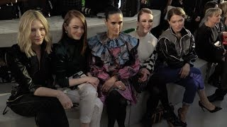 Many Celebrities Front Row for the Louis Vuitton Resort Fashion Show in NYC