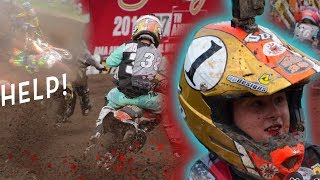 Kid Helps Downed Rider In The Middle of a Race! Haidens Hard Crash & Hailie Gets In Trouble!!!