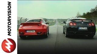 Nissan GTR vs Porsche Turbo Nordschleife