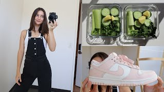 VLOG 🍏 eating my greens, grocery shopping, new clothing items, nike dunk lows!