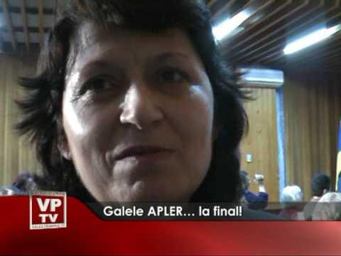 Galele APLER… la final!