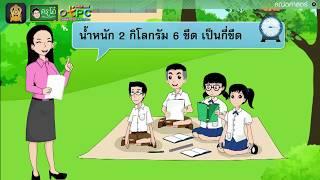 สื่อการเรียนการสอน ความสัมพันธ์ของหน่วยการชั่ง ป.4 คณิตศาสตร์