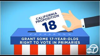 Proposition 18 explained: Grant some 17-year-olds right to vote in primaries | ABC7
