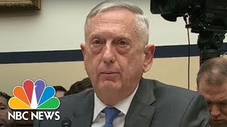 James Norman Mattis On Syria: Strategy Is 'A UN-Brokered Peace'   NBC News
