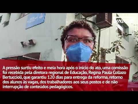 DRE Campo Limpo garante que CEU Capão Redondo permanecerá, após protesto