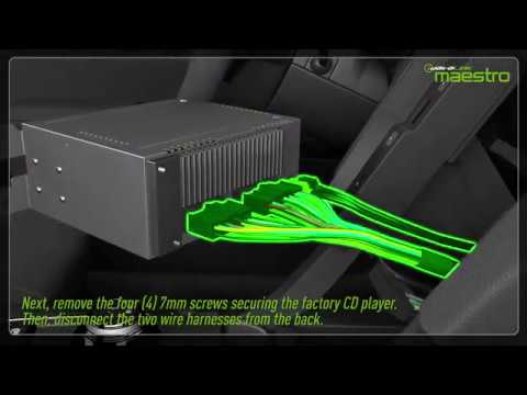 Video tutorial showing how to install the  MFT1 and Maestro module in a car.