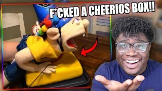 JEFFY HUMPS A CHEERIOS BOX! | SML Movie: Jeffy's Birthday Wish Reaction!