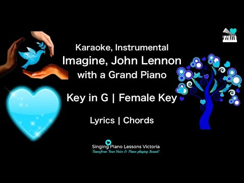 Imagine John Lennon In Female Key Karaoke With A Grand Piano