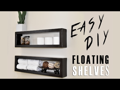 Build And Mount Your Own Floating Shelves For A Few Bucks